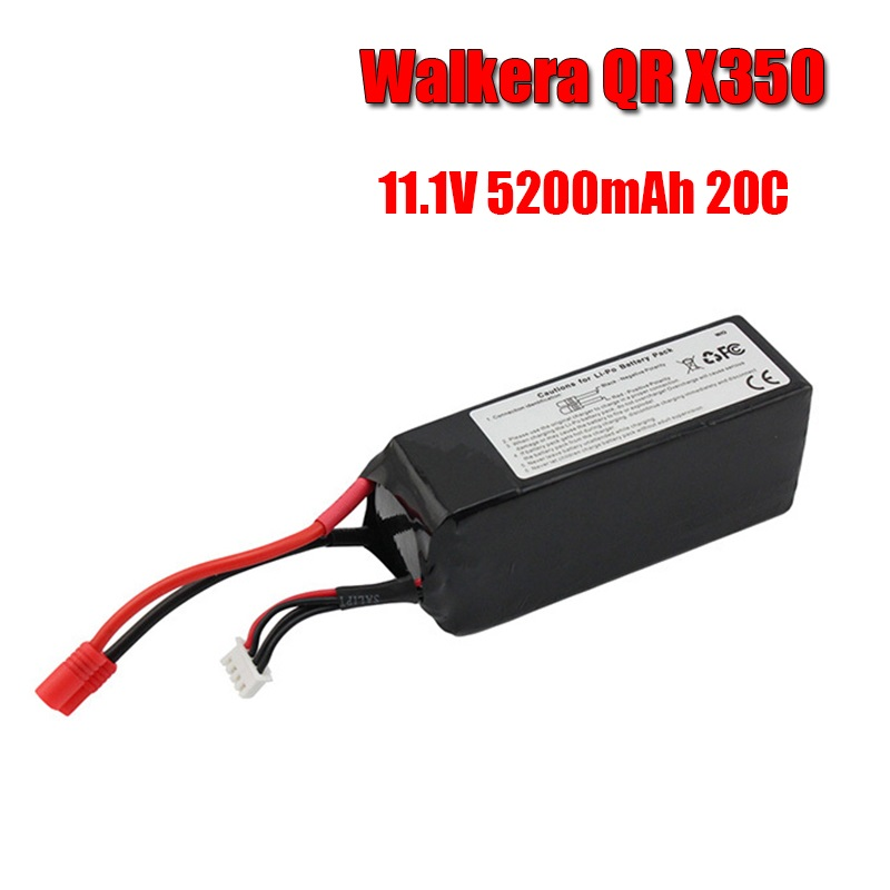 GTFDR Walkera QR X350 PRO Lipo battery 11.1V 5200Mah 3S 20C RC Drone Quadcopter SPARE PARTS SKT RC LI Po battery