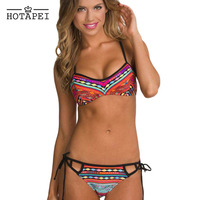 Ethnic Printed Strappy Bikini Swimsuit LC41768