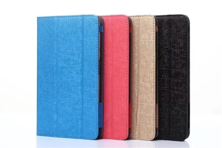 все цены на Ultra Slim 3 Folder Silk Grain Folio Stand PU Leather Cover Protective Case For Huawei Mediapad M2 7.0 PLE-703L 7 inch Tablet онлайн