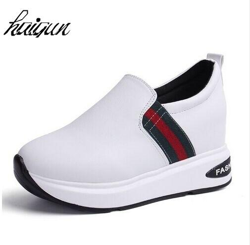 Women Fashion Comfortable Wedges Shoes Women Increased Heels White Platform Pumps High Heels Spring zapatos Deportivas Mujer цены онлайн