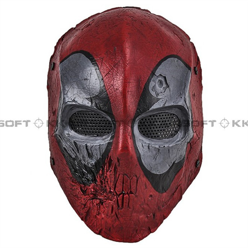 Paintball Party Mask Airsoft Wire Mesh Dead Pool Army Of Two Full Face Mask Bd8869
