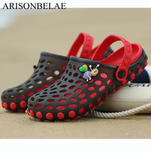 ФОТО summer sandals for boy girl slippers kids beach shoes non-slip shoes animal bee slipper children's sandals holes breathable 2018