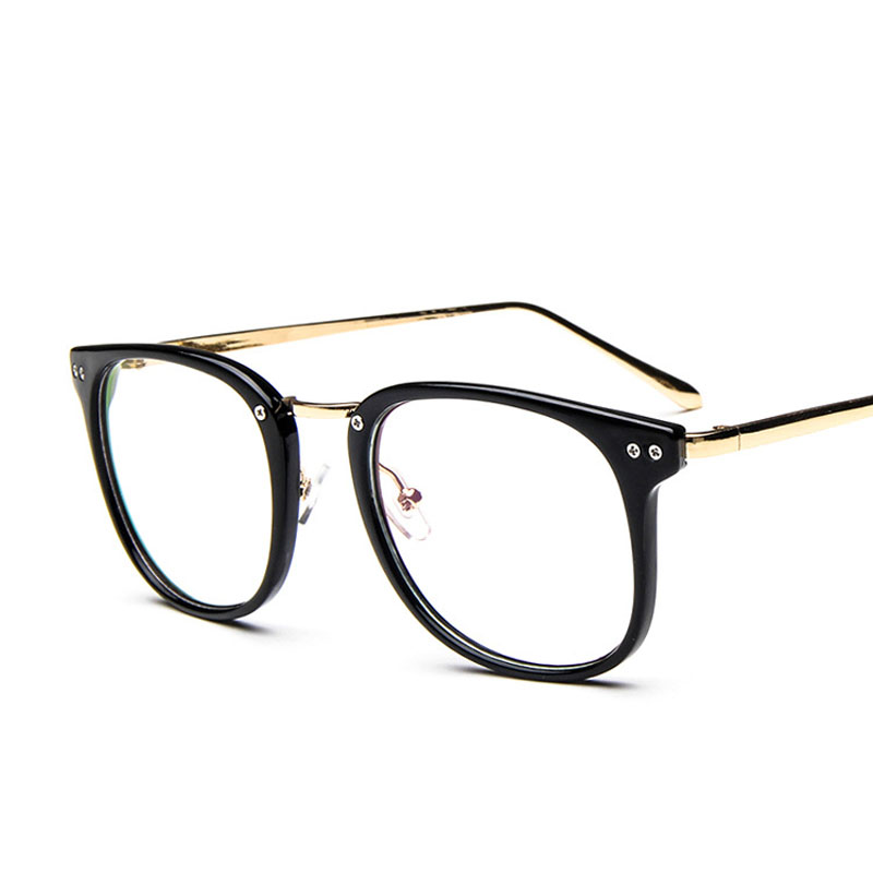 Korean Style Rivet Big Frame Glasses 2927 Vintage Metal Leg Couples  Eyeglasses Hipster Women Men Glasses Frame-in Eyewear Frames from Men's  Clothing ...