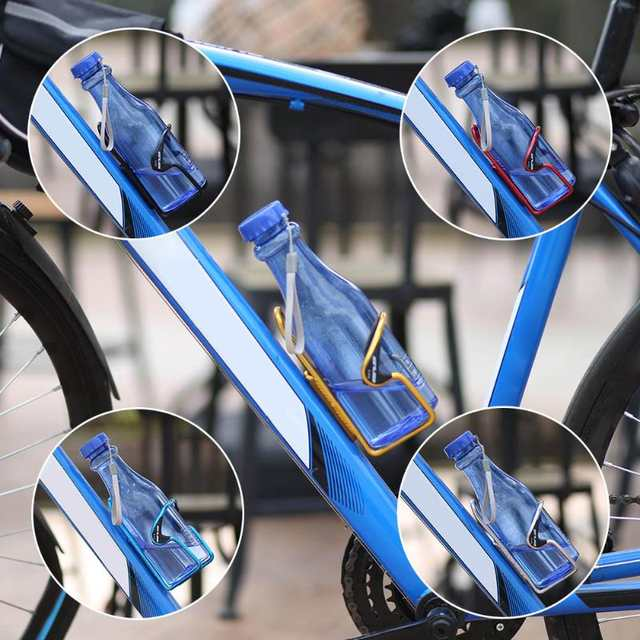 cb7f4a7032 Online Shop Aluminum Bicycle Water Bottle Holder Bicycle Water Bottle  Carrier Road Mountain Bike Bottle Cage Rack with Plastic Block | Aliexpress  Mobile