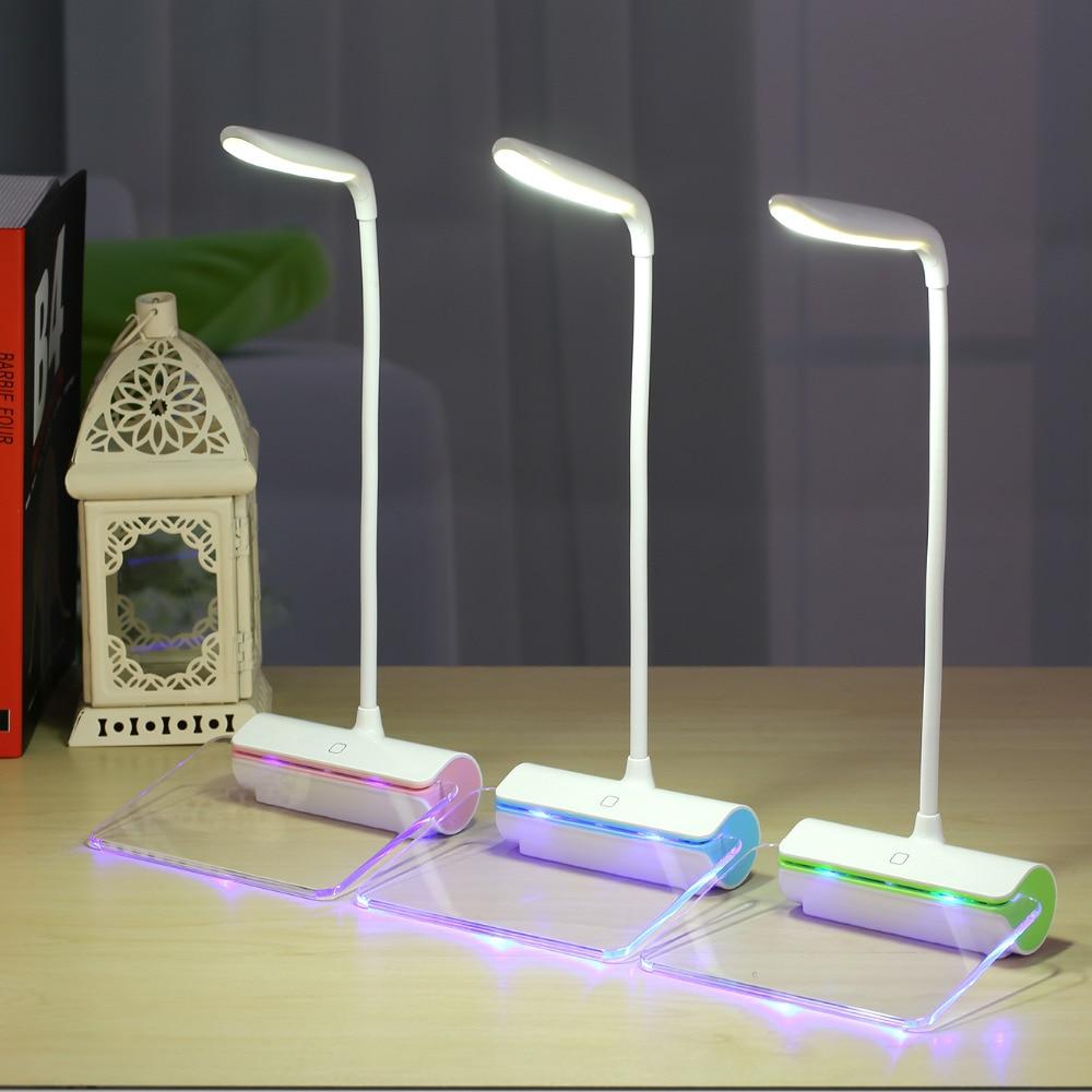 Mesaj lövhəsi ilə USB ilə doldurulan masa lampası, portativ üç - Daxili işıqlandırma - Fotoqrafiya 1