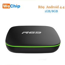 Date R69 Android 4.4 Tv Box 1G/8G Moins cher que X96 X92 Mi Boîte 3 Set top Box allwinner H2 Quad-Core (1.5 GHZ) 4 K 1080 P OTT Tv box