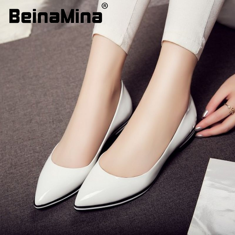 ladies pointed toe real natrual genuine leather flat shoes women sexy spring fashion footwear brand shoes