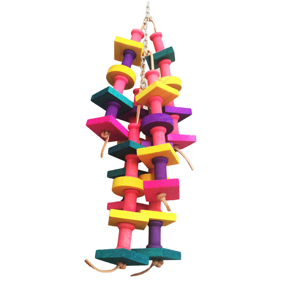 aliexpress com buy natural wooden toys for pets bird colorful