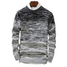 Jerseys para hombre jersey de lana para hombre ropa de marca Casual cuello redondo suéter hombres patrón de puntos Camisa de algodón de manga larga para hombre M-2xl