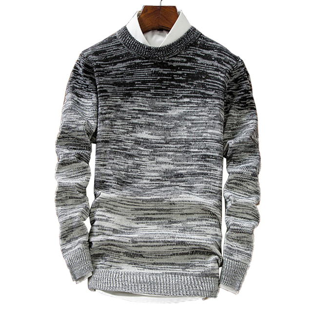 Mens Sweaters Wool Pullover Men Brand Clothing Casual O -Neck Sweater Men Dot Pattern Long Sleeve Cotton Shirt Male M -2xl
