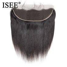 Perruque Lace Frontal Closure malaisienne Remy – ISEE HAIR, cheveux lisses, 13*4, oreille à oreille, partie libre, densité 130%, livraison gratuite