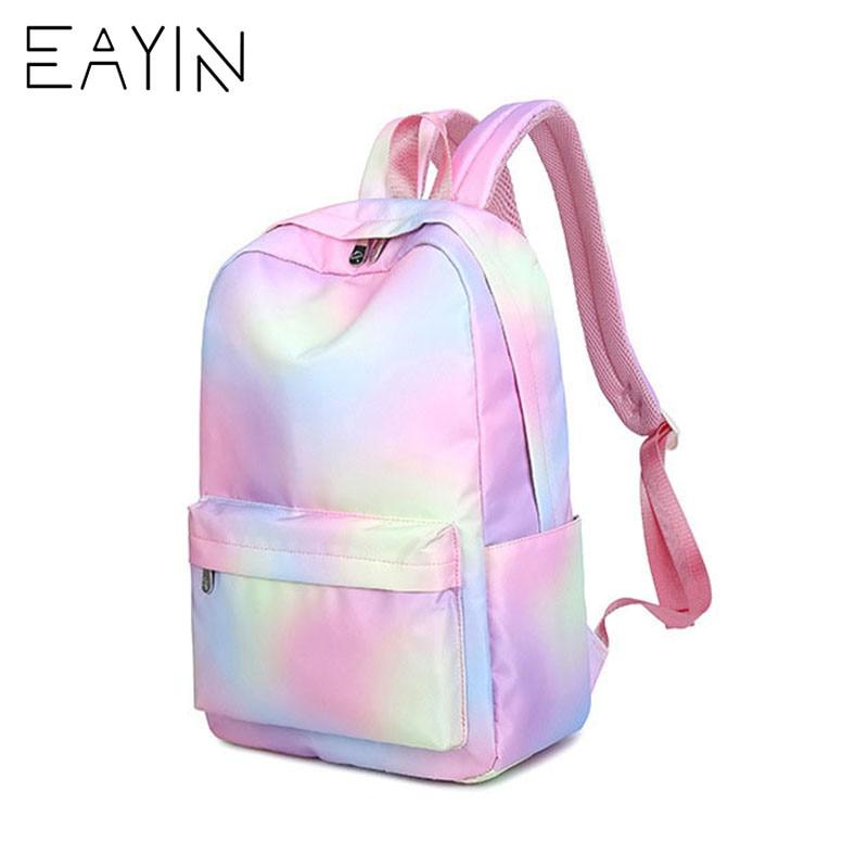e30581c3fedb EAYIN Korean Style Backpack Female Fashion Tunic Women Backpacks Trendy  Canvas Waterproof Backpack for Girls mochilas feminina-in Backpacks from  Luggage ...