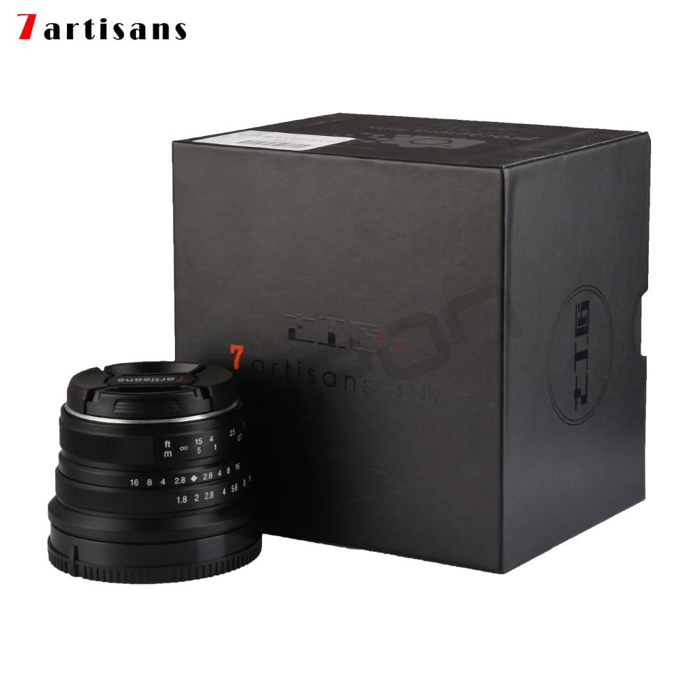 7 artesanos 25mm/F1.8 Prime lente a todo sola serie para Sony e montaje/Canon EOS-M montaje /montaje Fuji FX/M43 Panasonic Olympus