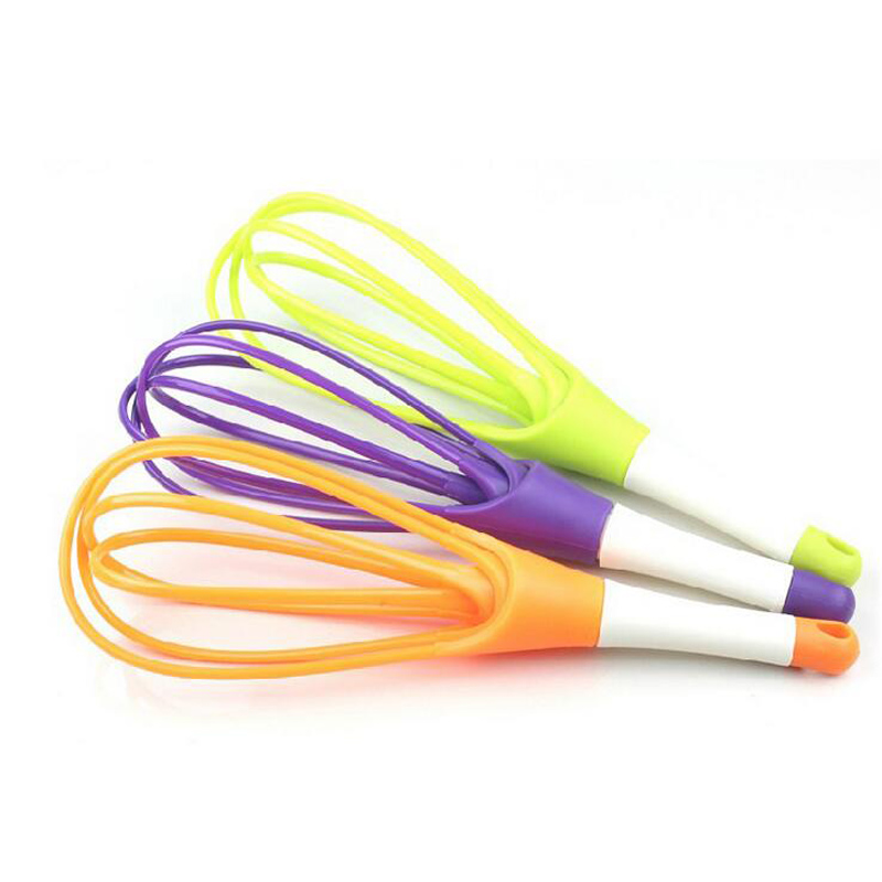 1Pc Food Grade PP Multifunction Egg Beaters Stiring Long Handle Whisk  Detachable Mixer Kitchen Cooking