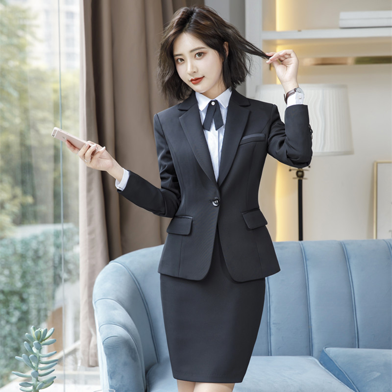 IZICFLY Spring Black Blazer Feminino Female Uniform Business Suits with Trouser Elegant Slim Office Suits for Women Clothing 4XL 45