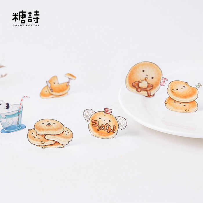 45 unids/lote pan Series Mini etiqueta engomada de papel de bricolaje decoración recortes de diario de bala revista pegatinas