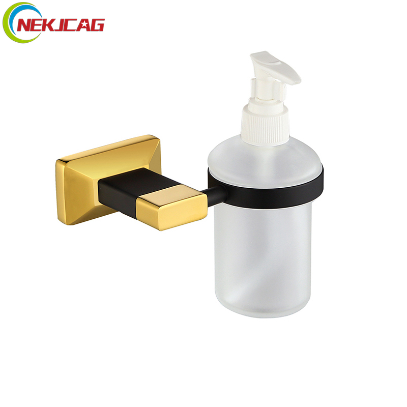 цены Glass Bottle Liquid Soap Dispenser Bathroom Soap Dispenser Toilet Washing Hand Dispenser Wall Mounted