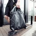 X-Online hot sale man handbag male fashion large tote men simple black bag