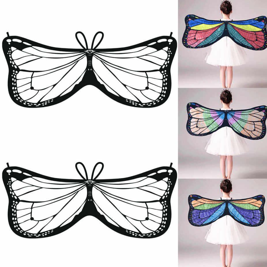 3b48b13ac51 ... Feitong 2019 Shawl Kids Child DIY Butterfly poncho xales e ponchos Cape  Wings Creative Angel Wings ...