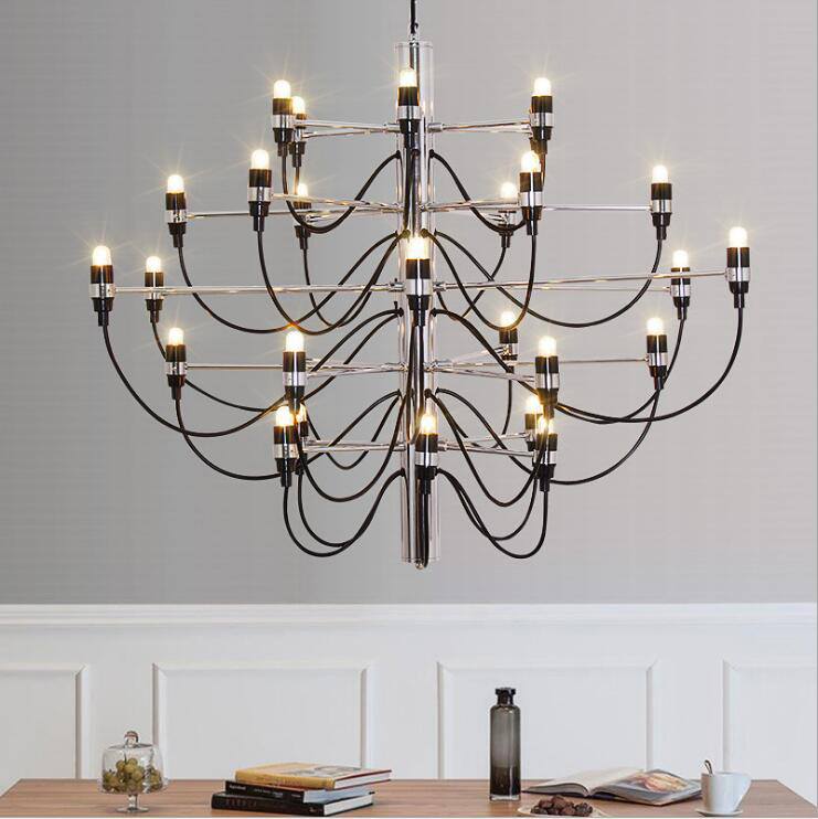 Modern Silver Black 18/30/50 Heads Art Designer Summer Fruit Pendant Lights Living Room  Dining Room Hotel Pendant Lamp