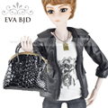 Men's Fashion PU Leather Bag for 1/3 1/4 BJD Doll for blythee doll Zipper bags Black Brown Doll accessories EVA BJD DAC003