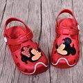 Mickey y Minnie Niños Niños Niñas Sandalias de Los Niños Zapatos Del Agujero Deslizadores de Las Sandalias 2016 Del Verano Sandalias Antideslizantes Suaves Sandalias de Playa