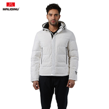 MALIDINU 2019 Men Down Jacket Hooded Winter Down Coat Duck Down Jacket Men Fashion Parka Brand Thick Warm Men Jacket Winter -30C стоимость