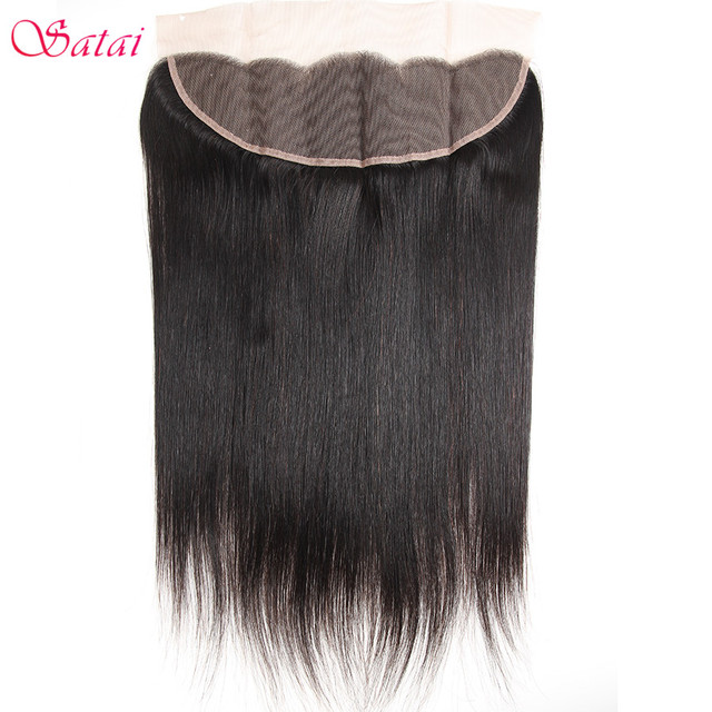 Satai Brazilan Straight Hair Human Hair 3 Bundles With Frontal Best Brazilian Hair Frontal With Bundles Non Remy Hair Extension 4