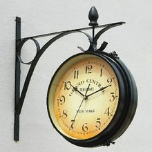 wanduhr home decor modern design watch vintage saat relojes pared decoracion wrought iron wall clock  iron Sidedpendule murale