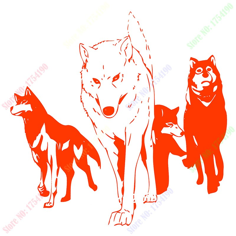 8185d1810 Free Shipping WALL VIINYL STICKER DECAL ART MURAL ANIME MANGA PACK OF WOLVES  Home decor wall stickers