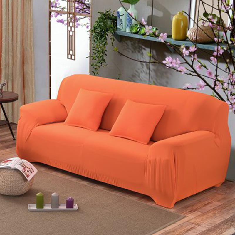 polyester fiber Sofa Cover for living room Solid Color Soft All-inclusive <font><b>Fabric</b></font> Cover Elastic Sofa Cover Couch Cover E5M1