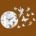 2017 New 3d Diy Wall Clock Acrylic Mirror Clocks Reloj De Pared Horloge Vintage Quartz Living Room Modern Watch Free Shipping