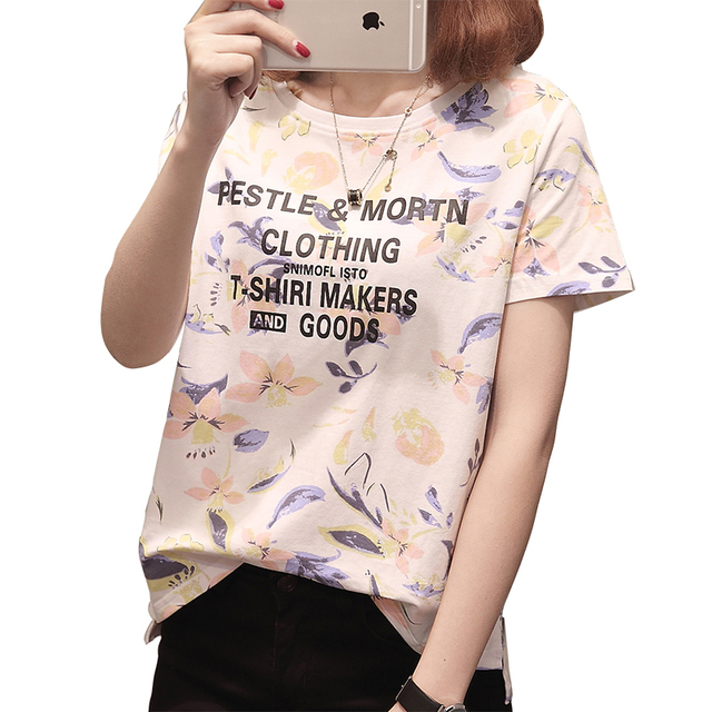 ccad4452a6b Gkfnmt Kawaii T Shirt Summer Women Tops 2018 Harajuku T-shirts Print Loose  Short Sleeve