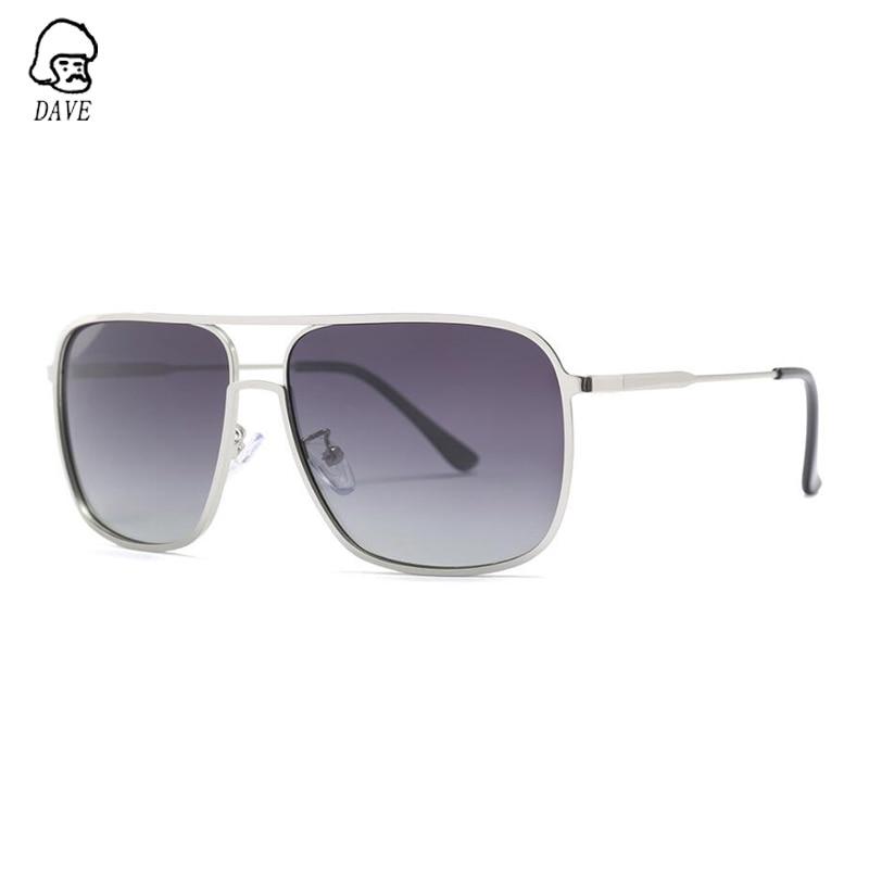 DAVE Square Polarized Sunglasses Men High-Quality Outdoor Sun Glasses Brand Designer Fishing Driving Goggle Eyewear UV400