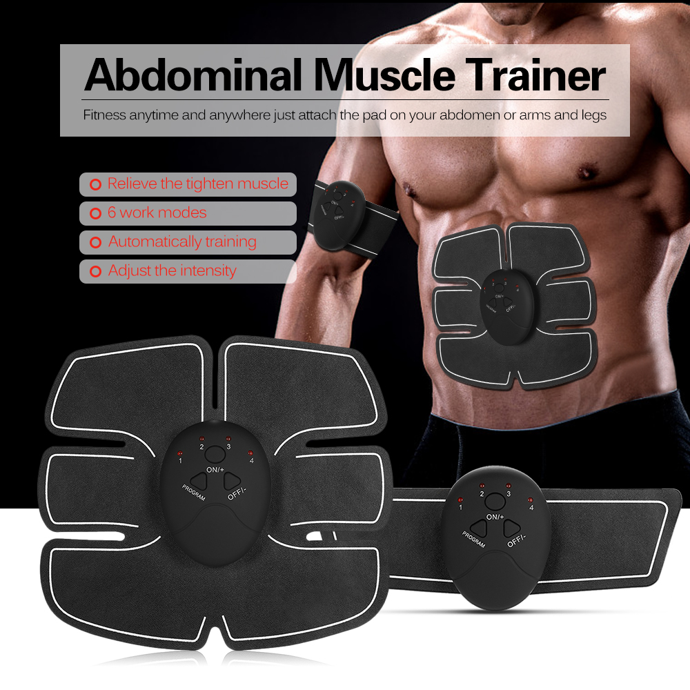 Quality New Fashion Smart Abdominal Training Pad Wireless Ems Muscle Stimulator Arm Muscle Toner Abs Hip Trainer Body Slimming Belt Gel Pads Unisex Superior In