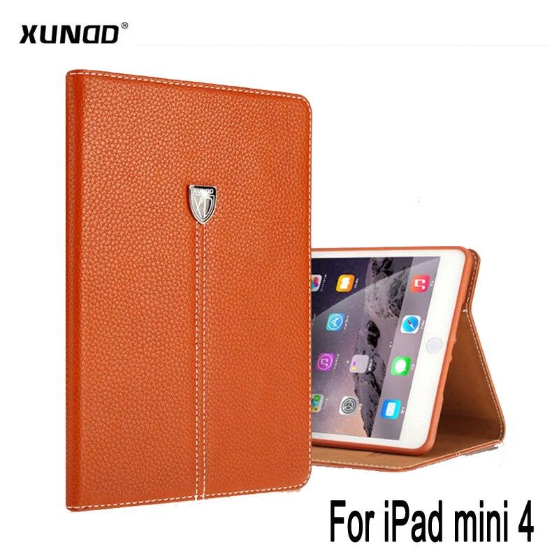 Pour iPad mini 4 Cas Xundd D'affaires De Luxe support résistant aux chocs Titulaire Flip PU En Cuir étui pour iPad Mini 4 mini4 étui intelligent Shell