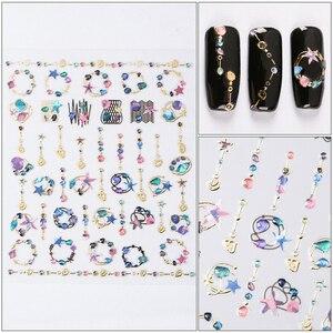Image 4 - Очаровательные 3D цветные наклейки для ногтей, украшения для ногтей, дизайн ногтей, слайдеры, украшение для маникюра «сделай сам»