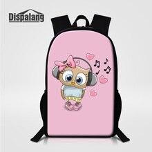 Dispalang Fox Backpack For Girls Children Cartoon School Bags Supreme Owl Bear Pig 3D Lightning Back Pack Animals Women Bagpack