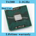 Lifetime warranty Pentium Dual Core T4300 2.1GHz 1M 800 Notebook processors Laptop CPU Socket P 478 pin Computer Original
