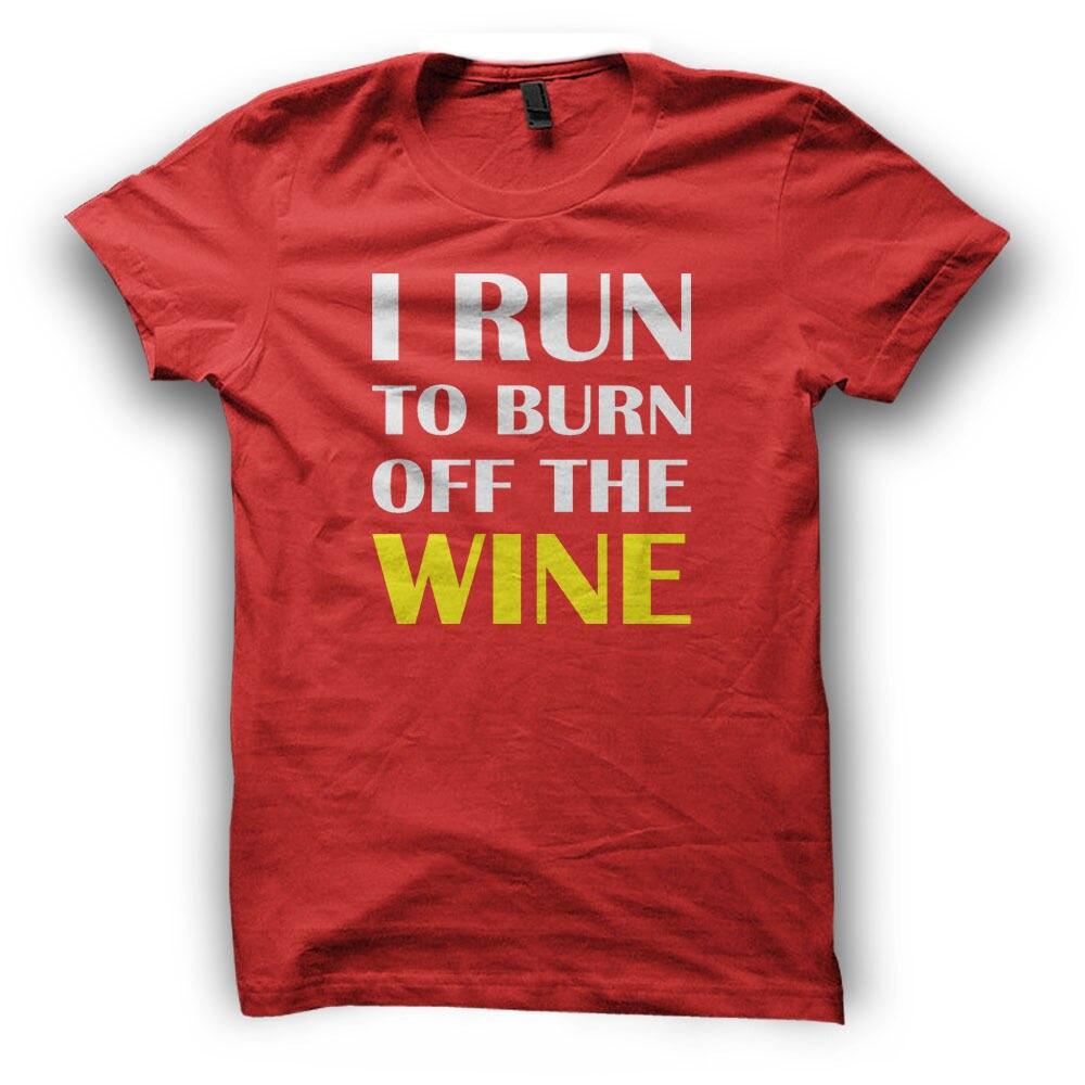 I Runner To Burn Of The Wine T-Shirt - Mens