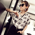 2016 Summer Women Casual Blouses Blusas Mujer Blusa Social Character Feminina Korean Roupa Femininas Camisa Female Blouse shirts
