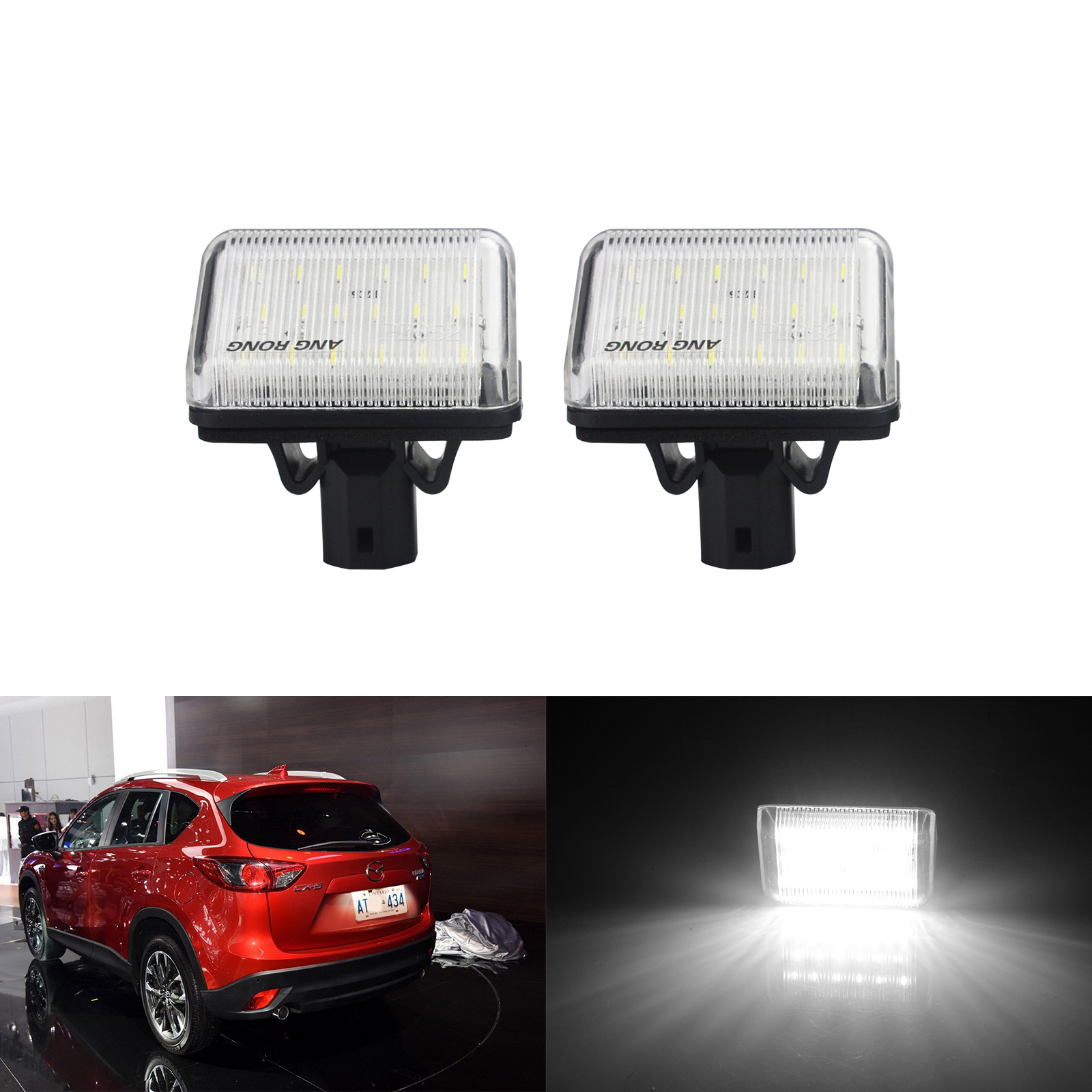 2x Mazda 6 GY Bright Xenon White LED Number Plate Upgrade Light Bulbs