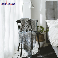 130 160cm Super Soft Warm Blanket Long Shaggy Fuzzy Fur Hama Sako Sand Mixed Fabric Elegant