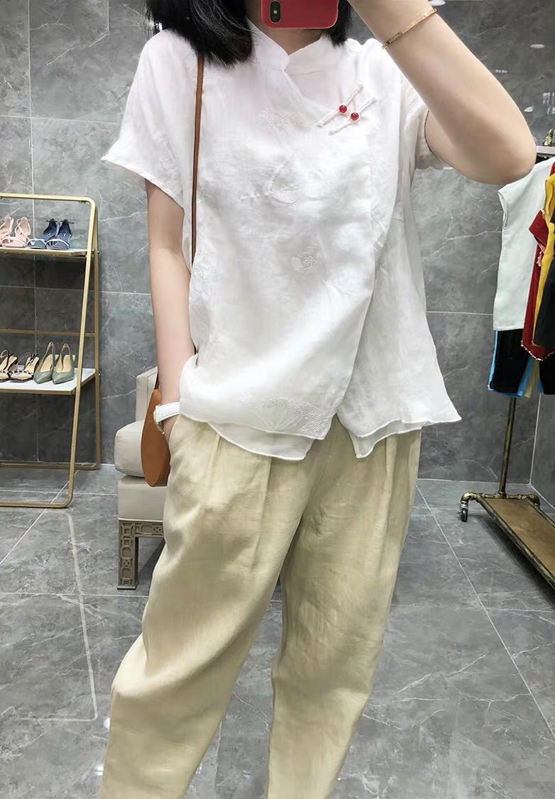 2019 été nouvelle chemise brodée pour femme