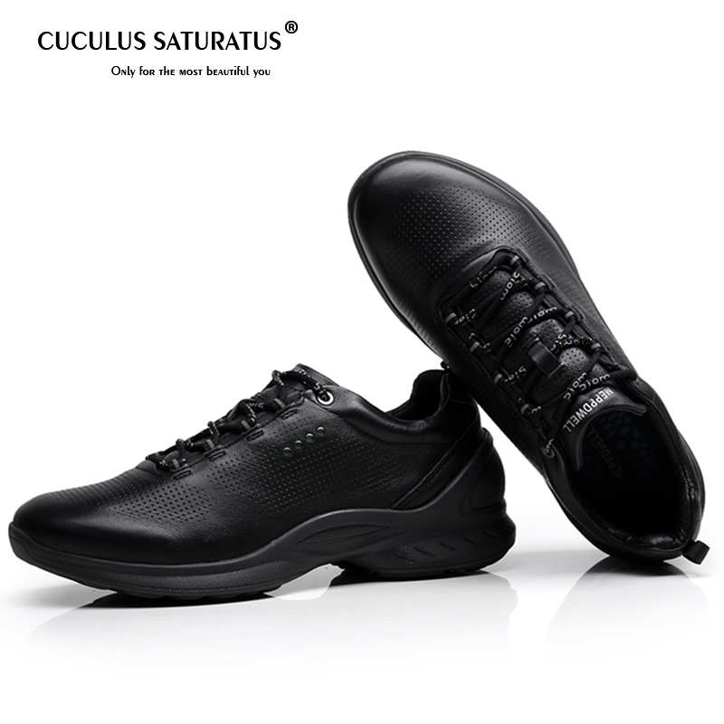 Genuine Leather Shoes Men Brand Footwear Non slip Thick Sole Fashion Men s Casual Shoes Male