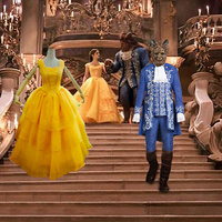 2017 Movie Beauty And The Beast Cosplay Costume Halloween Party Cosplay Costume CS380278