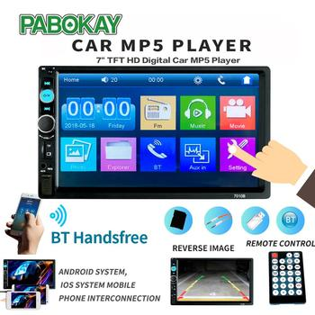2din Car Radio Multimedia Stereo FM USB AUX Bluetooth Autoradio 7010B MP5 Player Mirror Link Support Rear View Camera image