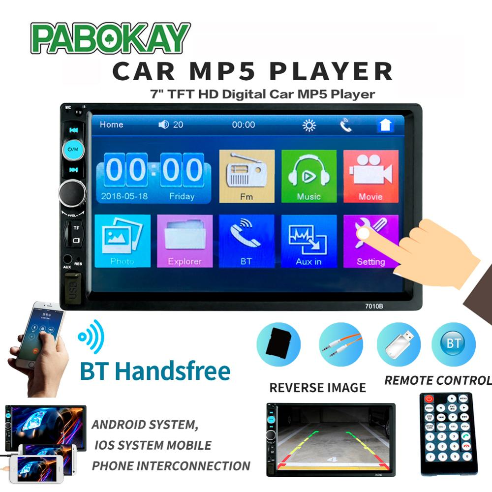 2din Car Radio Multimedia Stereo FM USB AUX Bluetooth Autoradio <font><b>7010B</b></font> MP5 Player Mirror Link Support Rear View Camera image
