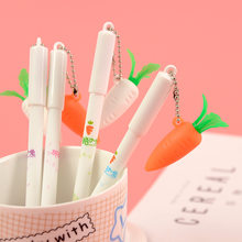 1 Piece Stationery Cartoon Cute Carrot Pen Creative School Office Gel Pens Christmas gift Radish Kawaii Supply Gift Handles(China)
