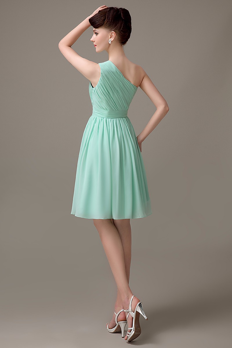 Online shop mint green chiffon one shoulder bridesmaid dress 2017 online shop mint green chiffon one shoulder bridesmaid dress 2017 simple junior bridesmaid dresses for girls cheap party gowns custom made aliexpress ombrellifo Image collections